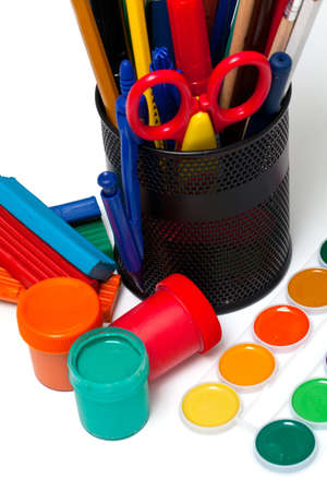 educational tools: colorful educational tools Stock Photo