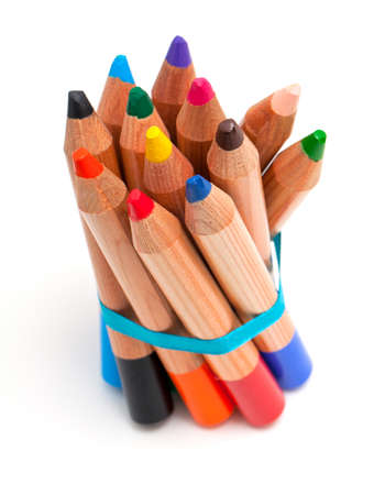 toddler pencils over white photo