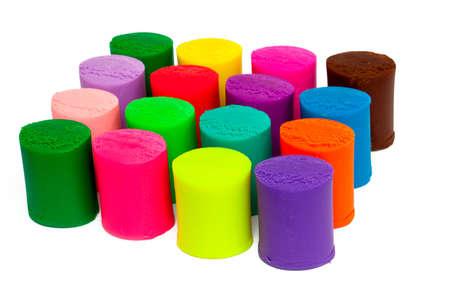 colorful plasticine over white Stock Photo - 17691291