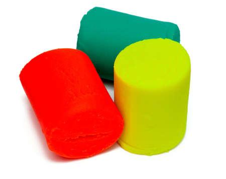 colorful molding dough over white Stock Photo - 17691153