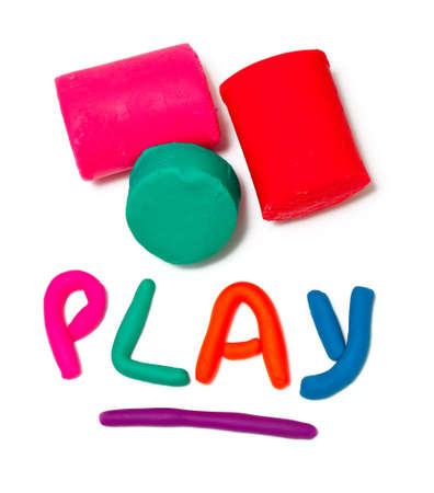 plasticine play word  photo