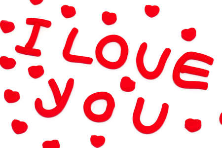 plasticine 'i love you' phrase photo