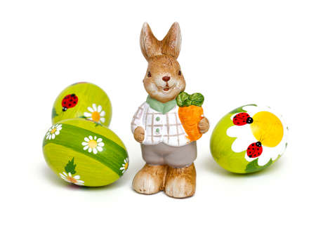 bugs bunny: Easter bunny and beautiful painted eggs