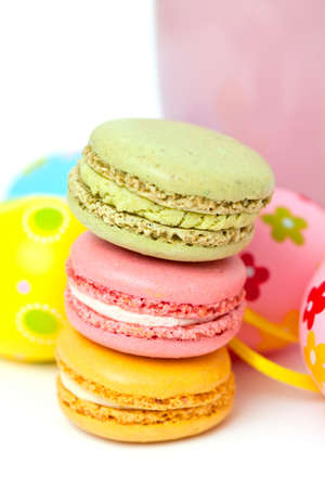 macarons and Easter eggs photo
