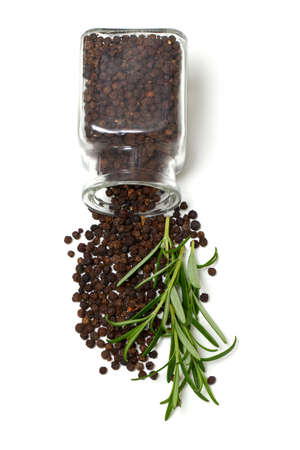 fresh rosemary and black pepper photo