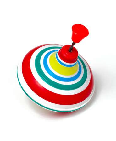 whirligig: whirligig for children isolated on white background Stock Photo