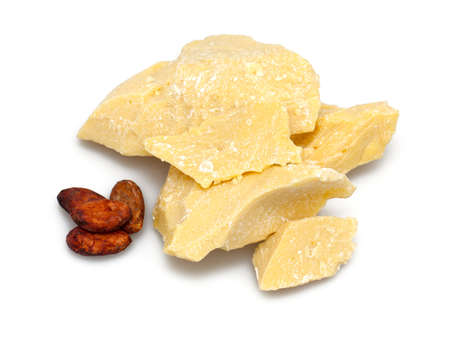 cocoa butter and beans Stock Photo