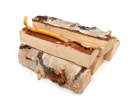 log fire: fire wood made from birch