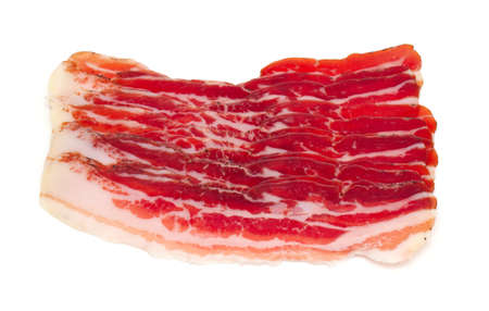cured: cured bacon  isolated on white background Stock Photo