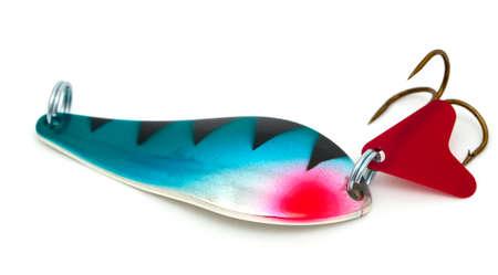 white salmon river: fishing lures isolated on white background Stock Photo