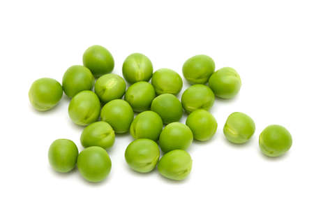 fresh peas isolated on white background Stock Photo - 19675256