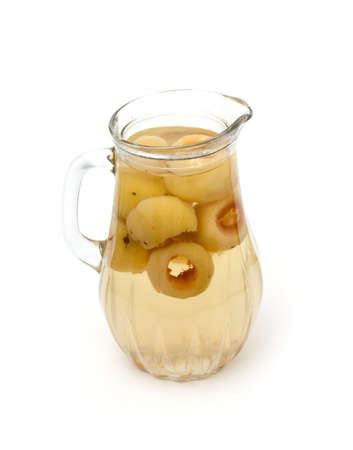 compote: pitcher with apple compote