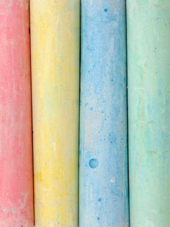 chalks in a variety of colors  photo