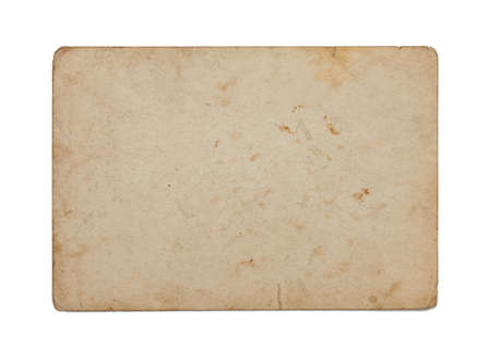 old paper isolated on white background photo