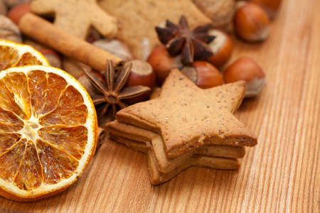 Christmas cookies and spices Stock Photo - 20674679