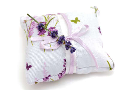 lavender flower on an aromatic pillow photo