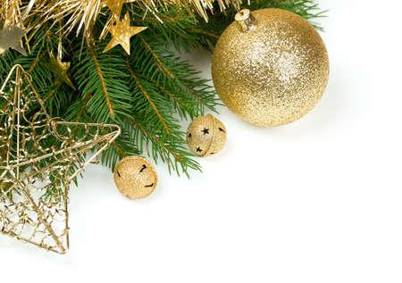 Weihnachtsdekoration over white Standard-Bild - 21880833
