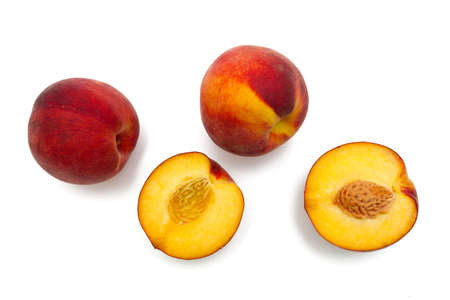peach fruit isolated on white