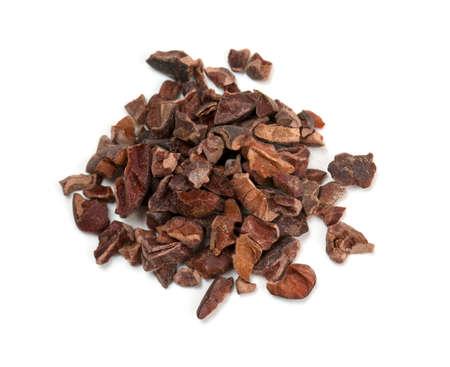Kakaokerne isoliert auf weiß Standard-Bild - 22576344