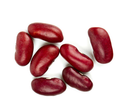 rajma: dried red beans isolated on white background Stock Photo