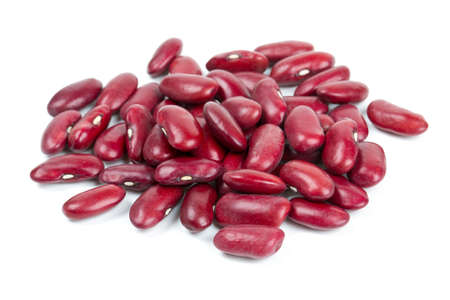 dried red beans isolated on white background Standard-Bild