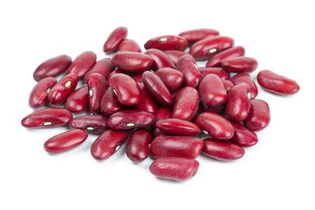 Haricots rouges secs isolé sur fond blanc Banque d'images - 24025019