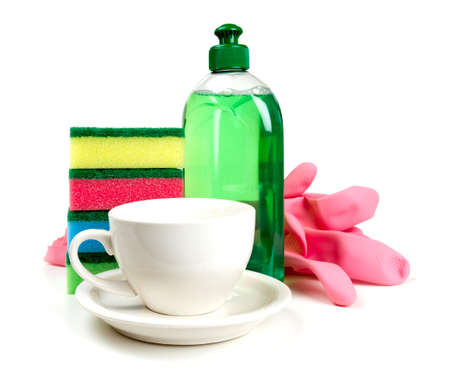 dishwashing: dishwashing tools and clean cup