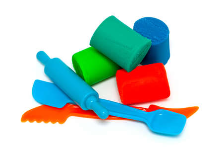 clay modeling: modeling clay and tools