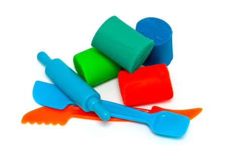 pâte à modeler et outils