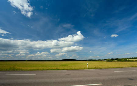 summer landscape with road photo