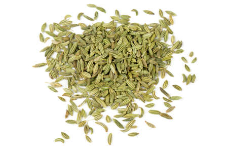 fennel seeds isolated on white background photo