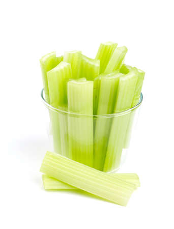 fresh celery isolated on white background photo