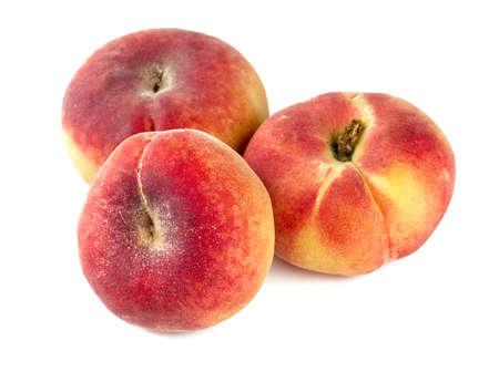 velvety: donut peaches isolated on white