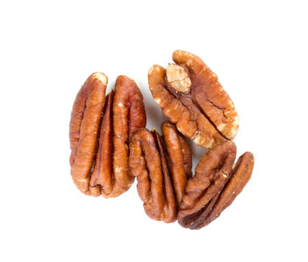 anti oxidants: pecan nuts over white