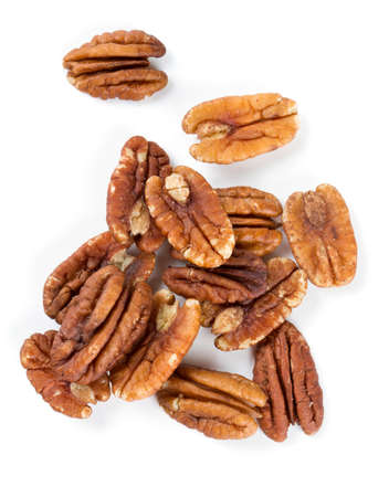 pecan: pecan nuts over white