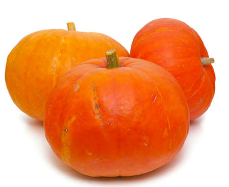 pumpkins isolated on white background Stock Photo