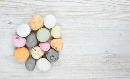 candies on wooden table photo
