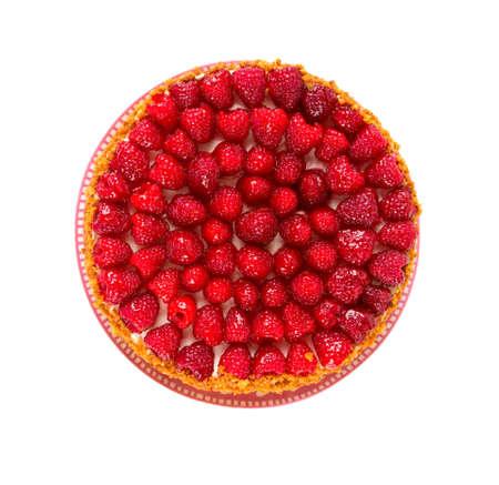 cheese cake: raspberry cheese cake Stock Photo