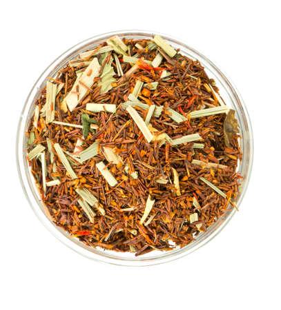 stimulator: rooibos tea in a glass bowl