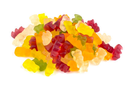 gummie: gummy bears over white