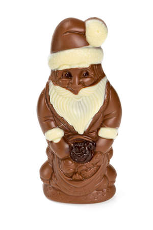 chocolate santa isolated on white photo