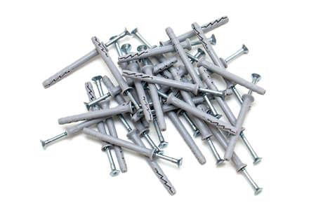 screws with plastic dowels photo