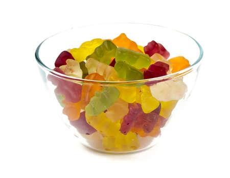 gummy bears in a bowl