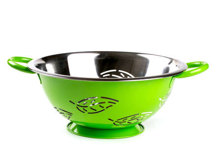 empty green colander photo