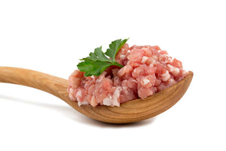 minced meat isolated on white Stock Photo