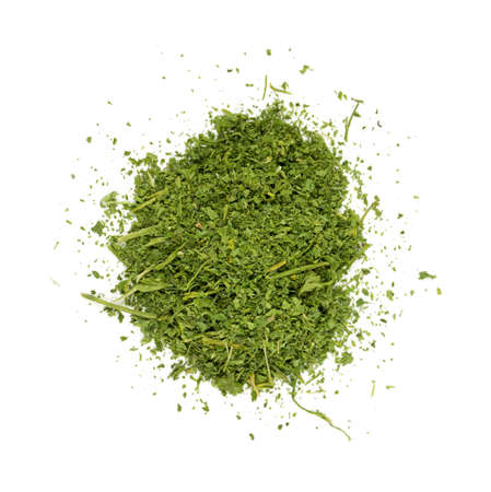 appetize: dried parsley isolated on white