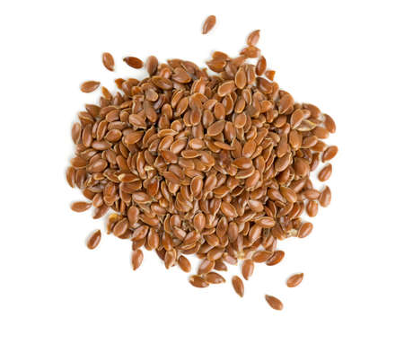 flax seed isolated on white