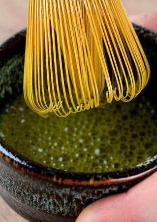 maccha: green matcha tea