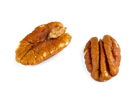 un healthy: pecan nuts over white