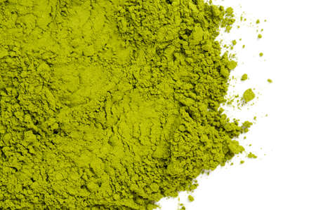 powdered green tea Matcha Stock Photo